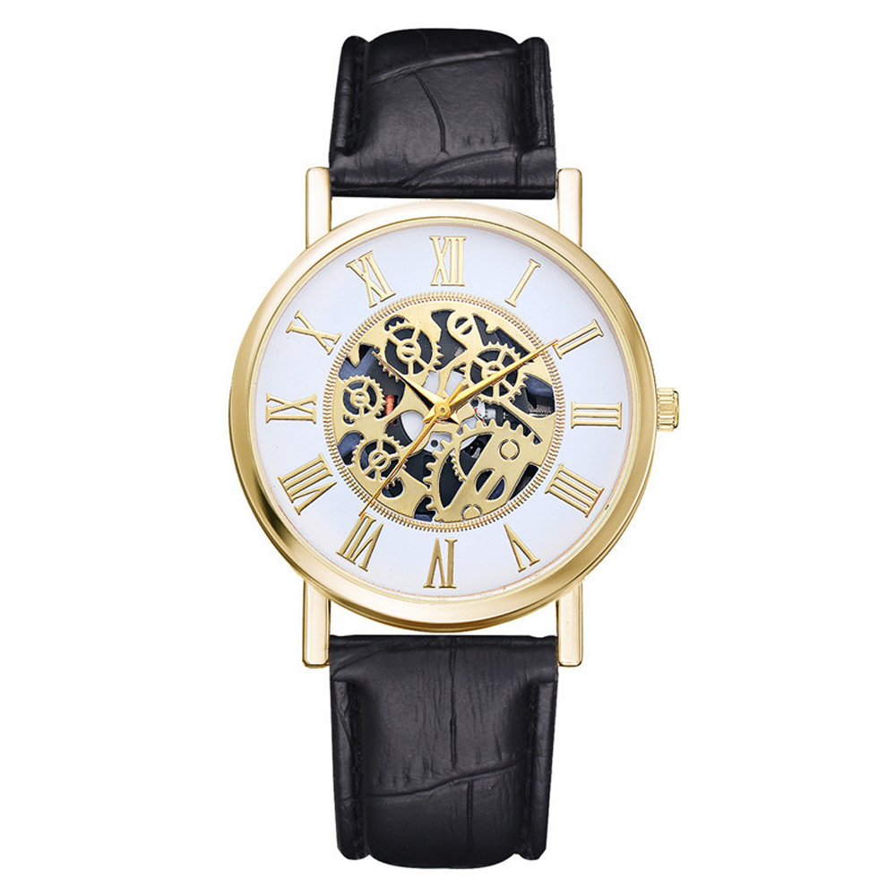HEZHUKEJI часы для Для мужчин из искусственной кожи ремешок с вырезами аналоговые сплава кварцевые наручные часы Для мужчин часы, часы для мужчин|Кварцевые часы| | АлиЭкспресс
