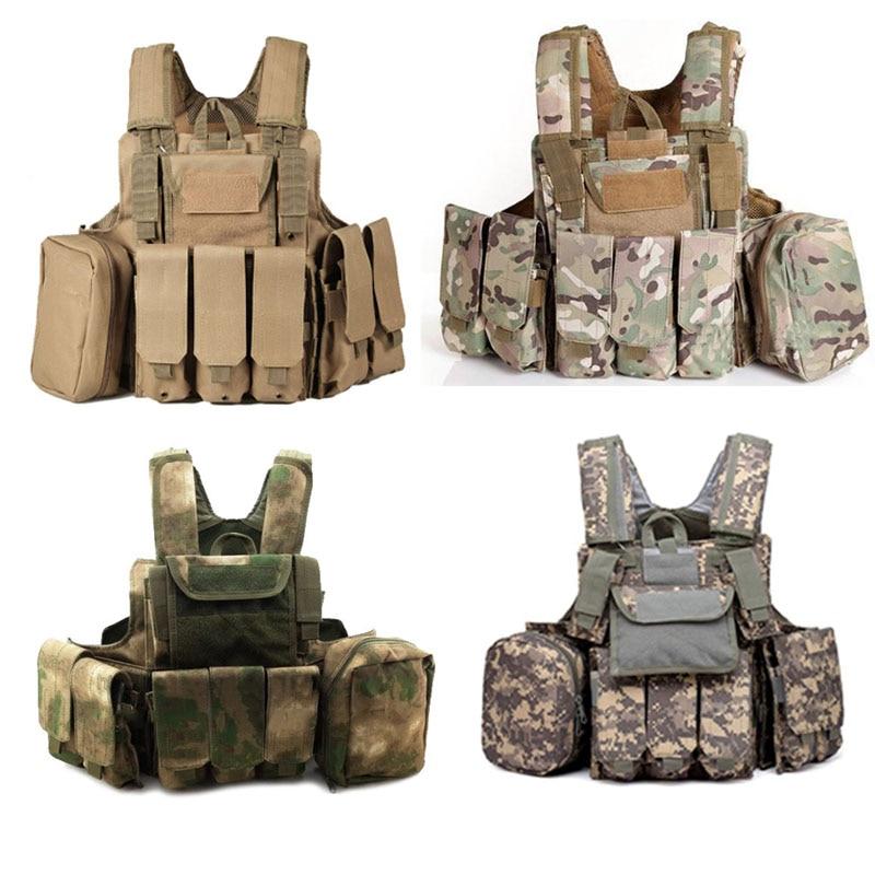 Gilet militaire tactique Molle CIRAS Gear Airsoft Paintball Combat libérable transporteur grève poche armure plaque accessoires gilet