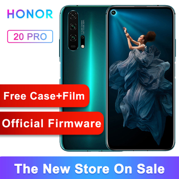 Original Honor 20 pro mobile phone Full Screen AI Camera Kirin 980 Octa Core Fingerprint ID NFC android 9