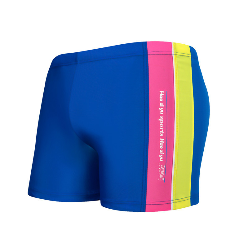 Stripes BOY'S Swimming Trunks Comfortable Breathable Lining Children Boxer Swim Shorts Hot Springs Big Boy Swimming Trunks
