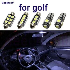 Image 2 - Canbus conduziu a lâmpada da placa de licença do carro + interior cúpula mapa luzes kit lâmpada para volkwagen para vw golf 4 5 6 7 mk4 mk5 mk6 mk7 1998 2018