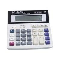 2019 New Office calculator DS-200ML Muti-function calculator Large keys 12 Digits Big display Dual power computer keys