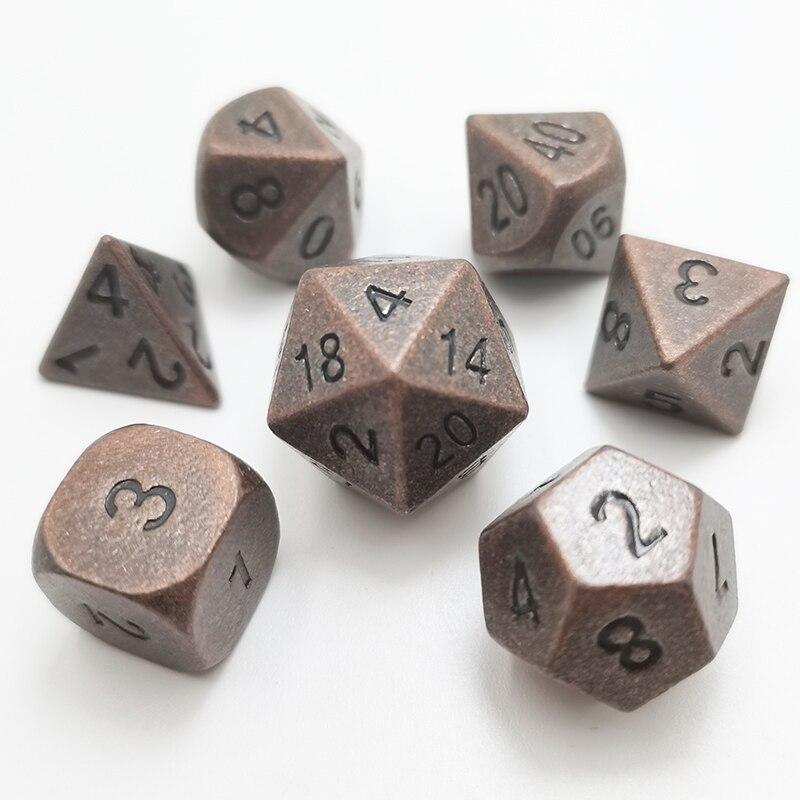Много металлических игральные кости DND Набор для подземелий и драконов (D & D) Pathfinder ролевые игры многогранные и RPG 7 раз