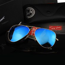Aviation Pilot Driving Sunglasses Men Woman Color Glass Lens UV400 Luxury Brand 3025 3206 Original Box Logo Top Quality