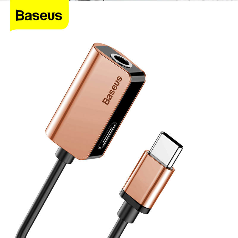 Baseus Type C Adapter For Xiaomi Huawei Mate 10 Pro Cable Splitter 3.5mm Female Adapters For Samsung Galaxy S8 USB C Connector