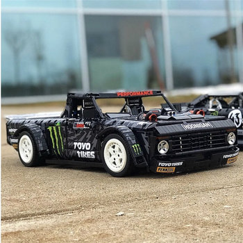 Racing Car Technic MOC Off-road pickups F-150 Ford Mustang Hoonicorn RTR V2 Bricks Model Building Blocks DIY TOYS For Kids Gifts