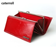 genuine leather women wallets luxury brand ladies clutch purse alligator pattern wallet long real