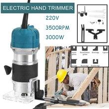 220V 3000W Holz Elektrische Hand Trimmer Holzbearbeitung Gravur Stoßen Trimmen Hand Carving Maschine Holz Router Pvc-h-streifen Schreiner Set