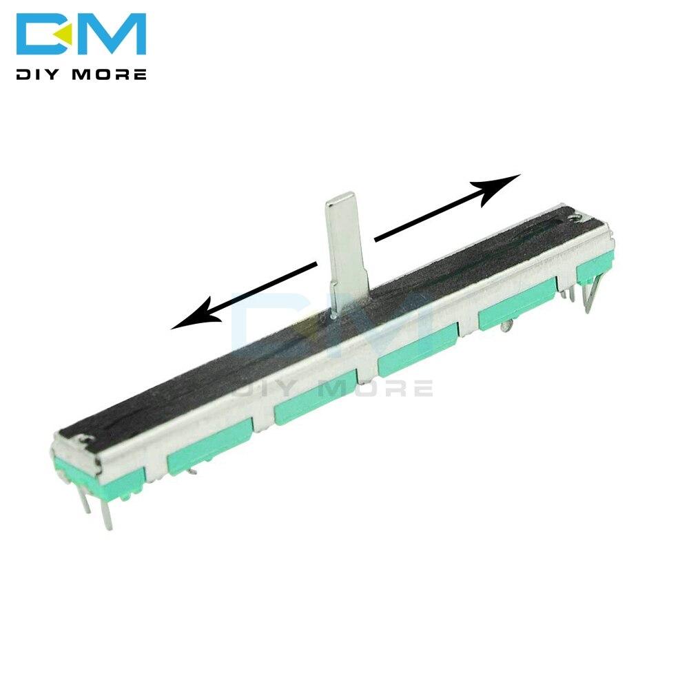 5 pçs b103 b10k ohm duplo potenciômetro linear 10k 75mm sc6080gh slide ajuste duplo linear rotativo filme de carbono resistor