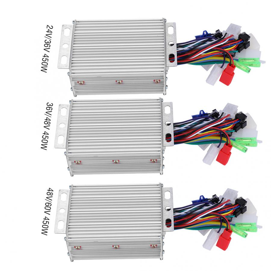 Electric Bike Controller 24V/36V/48V/60V 450W Motor Brushless Controller Box Accessory Parts for E-bike Electric Bicycle Scooter