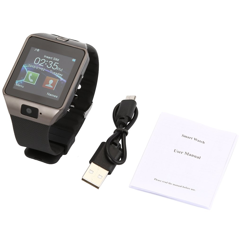 DZ09 Bluetooth Smart Card Sports Anti-lost Smart Watch FOR Android Watch Sedentary Reminder HD Recording Bracelet
