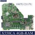 Kefu X550CC Scheda Madre Del Computer Portatile per Asus X550CA X550CL R510C Y581C X550C Mainboard Originale 4GB-RAM 1007U/2117U Cpu