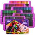 180 Colors Professional Oil Color Pencils Drawing Pencils Set 3.8 mm Lead Core Coloring Coloured Colored Pencil Art Supplies