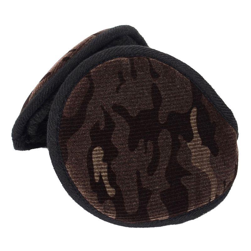 2019 Unisex Winter Camouflage Velvet Earmuffs Plush Lining Behind Head Ear Warmers