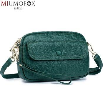 цена на Fashion Wrist Strap Women Small Bag Genuine Leather Luxury Crossbody Bag for Woman Designer Ladies Shoulder Messenger Bags New