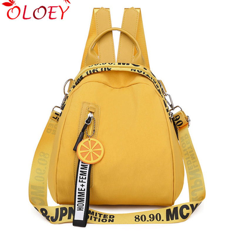 2019 Candy Color Oxford Backpack Lady Waterproof Nylon Bag Suitable For Teenage Girls High Quality Fashion Travel Fashion Backpa