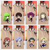10 pcs/lot Anime Code Geass Acrylic Keychain Toy Lelouch of the Rebellion Figure Bag Pendant Double sided Key Ring Gifts 1