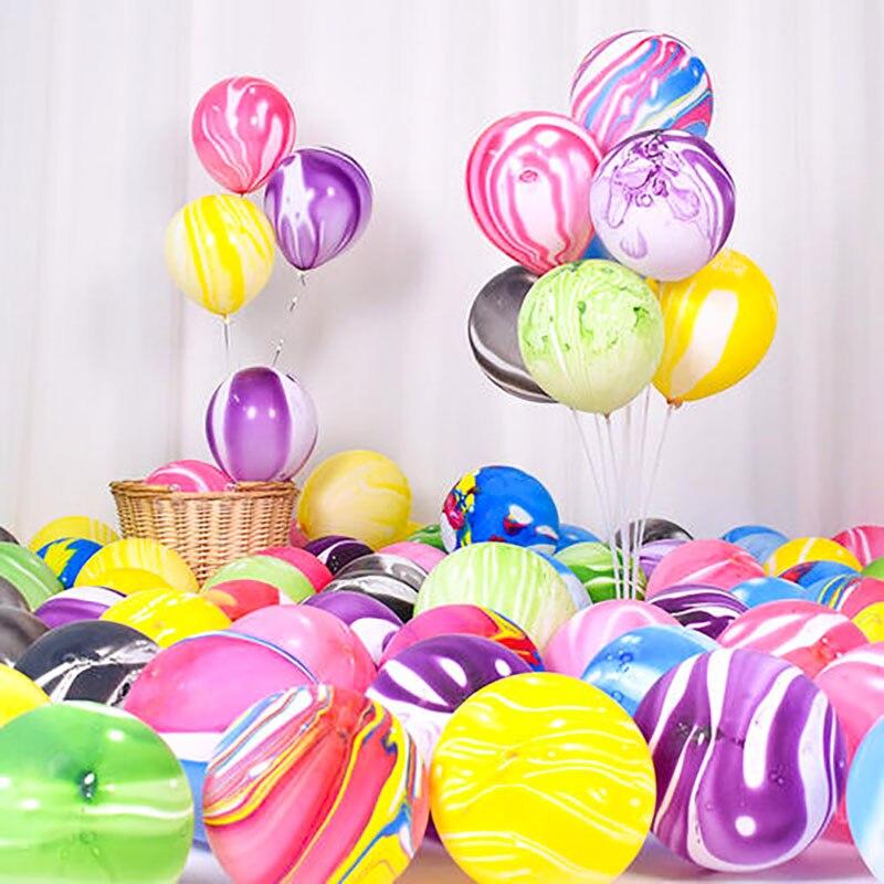 5/10 stücke 10/12 Zoll Achat Marmor Latex Ballons Bunte Hochzeit Geburtstag Partei Ballons Dekoration Kinder Spielzeug Luft Helium Globos