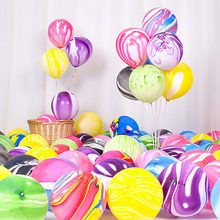 5/10pcs 10/12 Inch Agate Marble Latex Balloons Colorful Wedding Birthday Party Decoration Ballons Kids Toys Air Helium Globos