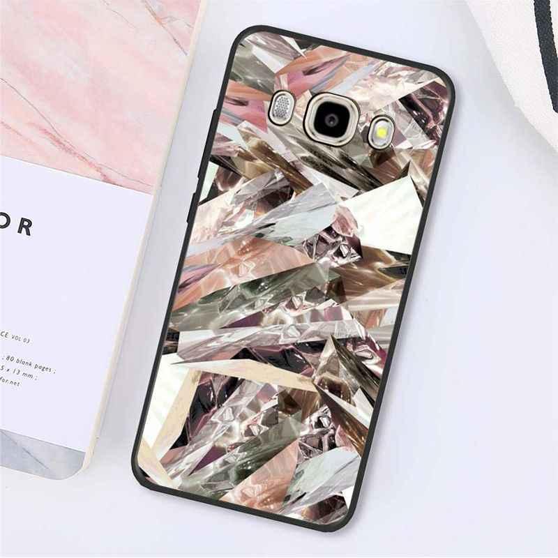 Funda para teléfono con estampado de brillo rosa dorado Yinuoda para Samsung Galaxy J7 J6 J8 J4 J4Plus J7 DUO J7NEO J2 j5 primer