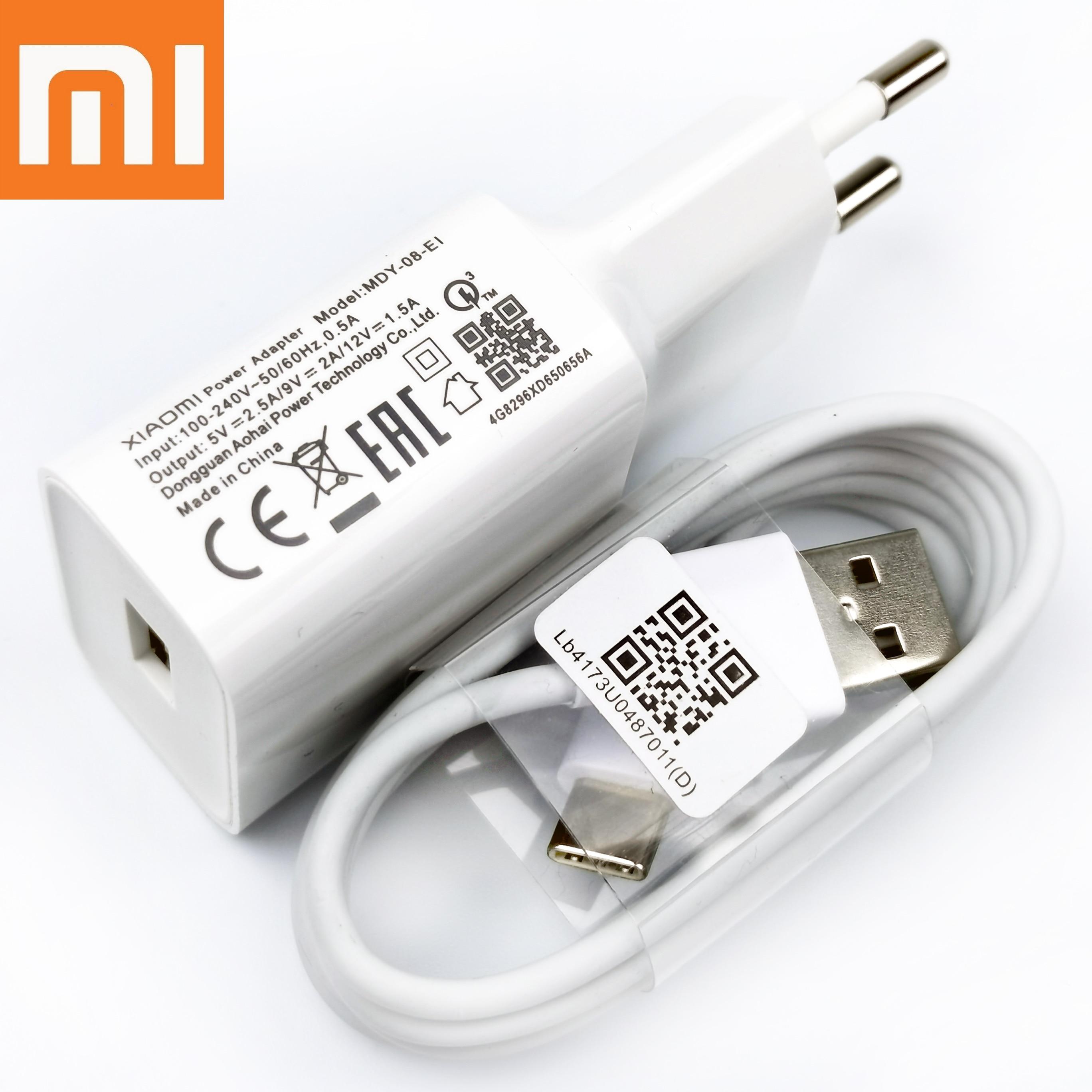 Оригинальное быстрое зарядное устройство XiaoMi RedMi Note7 18 Вт QC3.0 usb-c, быстрое зарядное устройство для Mi 6 Mix 3 2s A2 A1 F1 Redmi 7 8a note 8 9