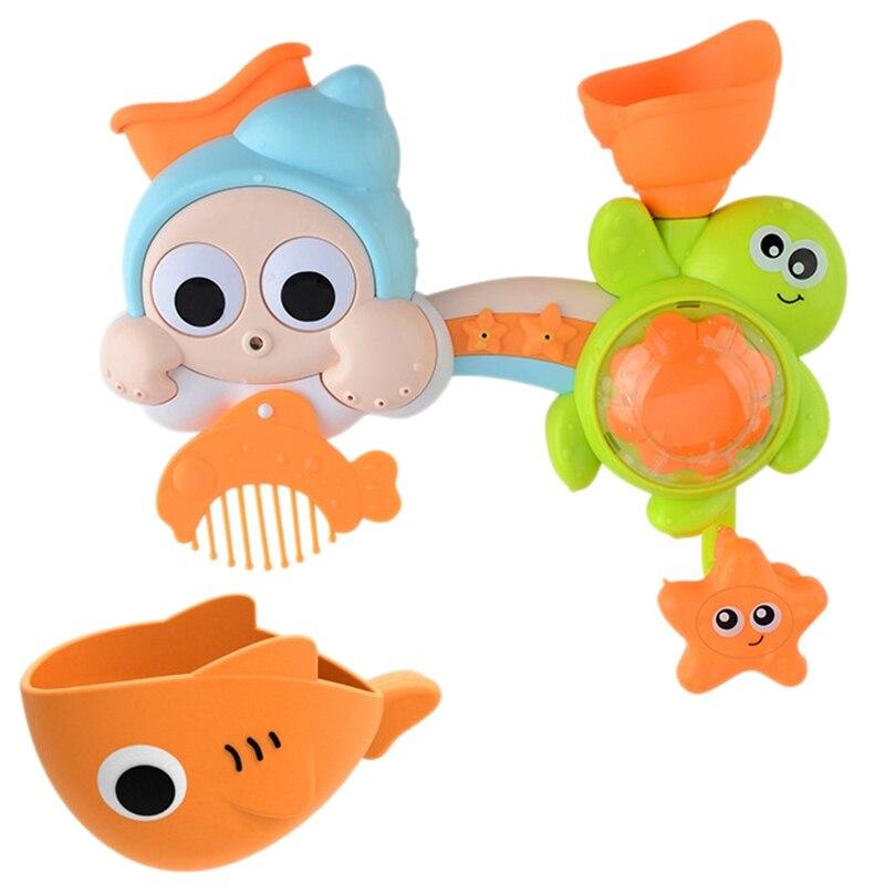 Hot-Children'S Play Water Turn Showers Marine Animals Turn Toys Baby Bathroom Play Water Bath Toys