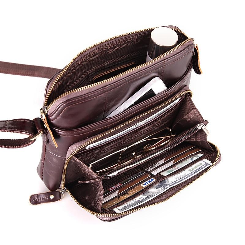 Cobbler Legend Women Bag Solid Multi Pockets & Card Holder Casual Genuine Leather Crossbody Shoulder Bag Designer Handbags 2019