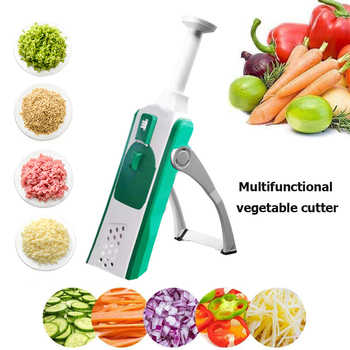 5 in 1 Vegetable Onion Chopper Garlic Press Crusher Potato Cutter Kitchen Cutter Potato Carrot Grater Fruit Vegetable Tool image