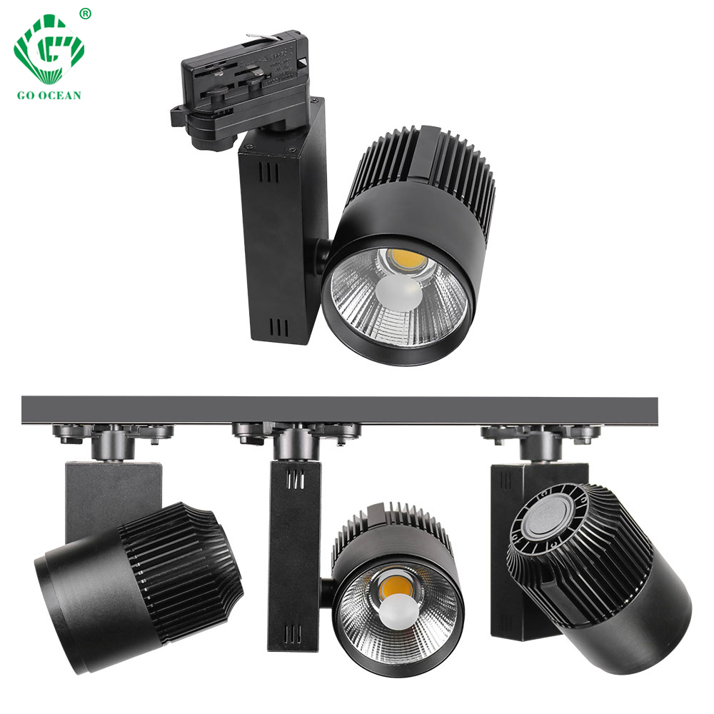 LED Track Light 20W 30W COB Rail Track Lamp Clothes Shop Store Mall Showroom Exhibition Modern