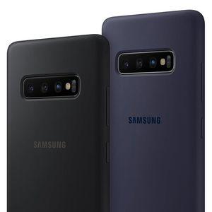 SAMSUNG Original Silikon Fall Telefon Abdeckung für Galaxy S10 S10X S10Plus SM-G9750 S10 X S10E SM-G970F G970U G970N Stoßfest Abdeckung