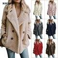 Needbo mulher casaco de inverno oversize 5xl jaqueta de inverno das mulheres mais sizeveste feminino casaco outwear turn down colarinho mulher jaqueta parka