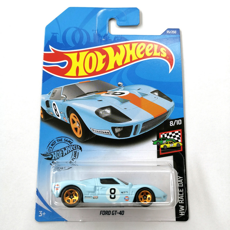 2020-35 Hot Wheels 1:64 Car FORD GT-40 Collector Edition Metal Diecast Model Cars Kids Toys Gift
