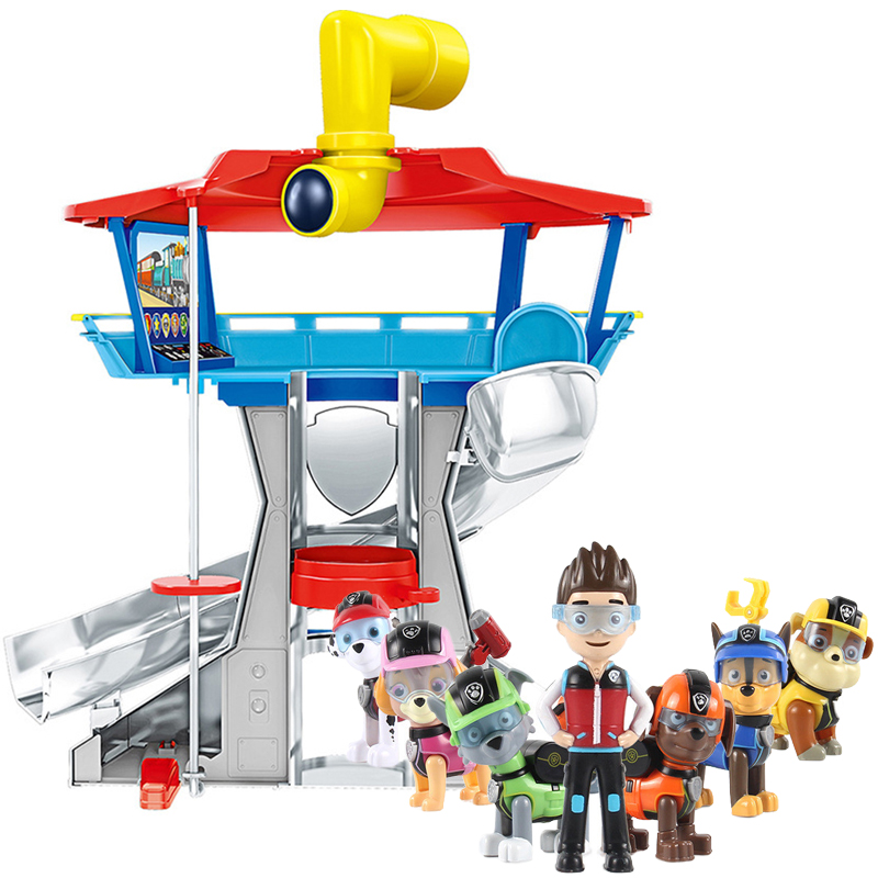 Paw Patrol Playset Observatory Juguete Patrulla Canina Plastic Toy With Voice Action Figures Model Toys For Children Gifts 2A02