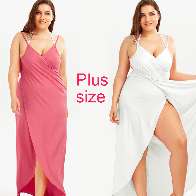 Plus Size Beach Dress Loose Bikini Cover Up Summer Swim Vestidos Playa 5XLCover Ups For Women Solid Beachwear Sarong Robe Plage