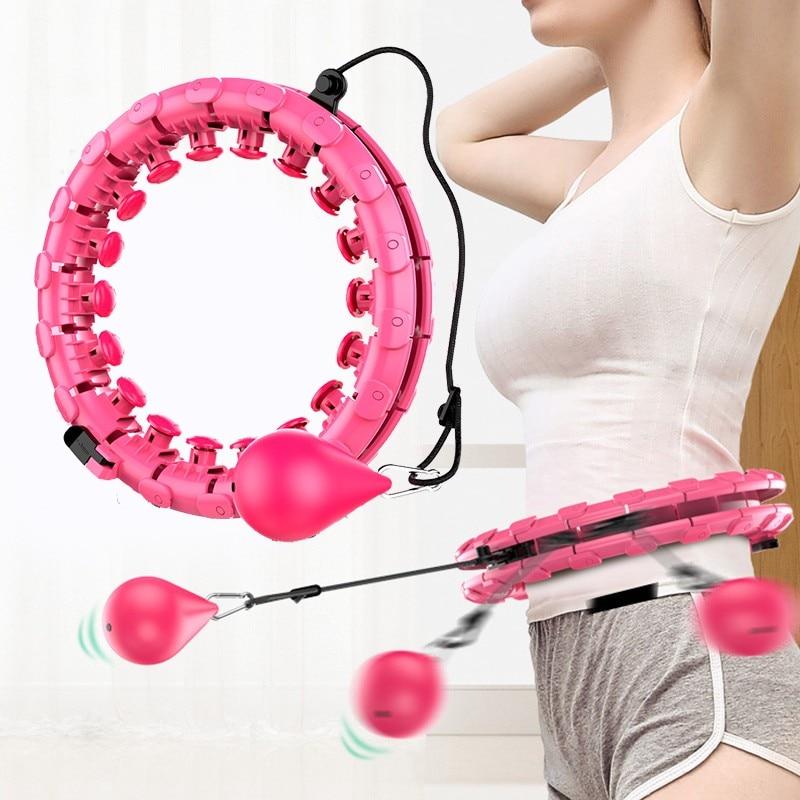 Спортивные обручи, умные обручи для йоги, домашнего фитнеса, обручи с регулируемой талией, тренировочное кольцо, тренажер живота, потеря вес...
