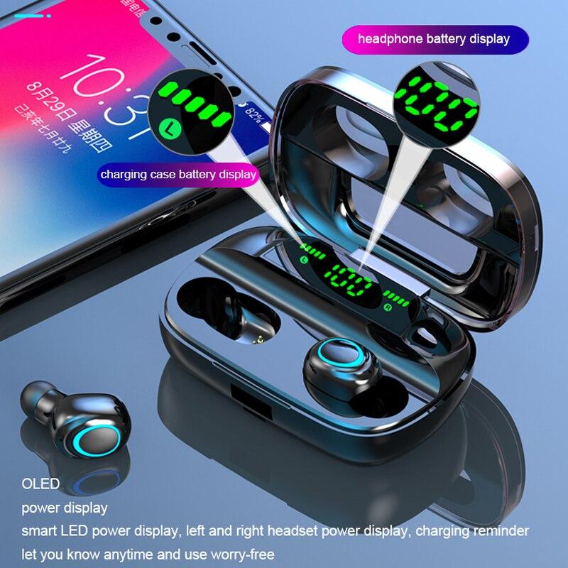 TWS Wireless Bluetooth Headphone Earphones Bluetooth 5.0  Headphones Noise Canceling Handsfree LED Digital Display Earbuds