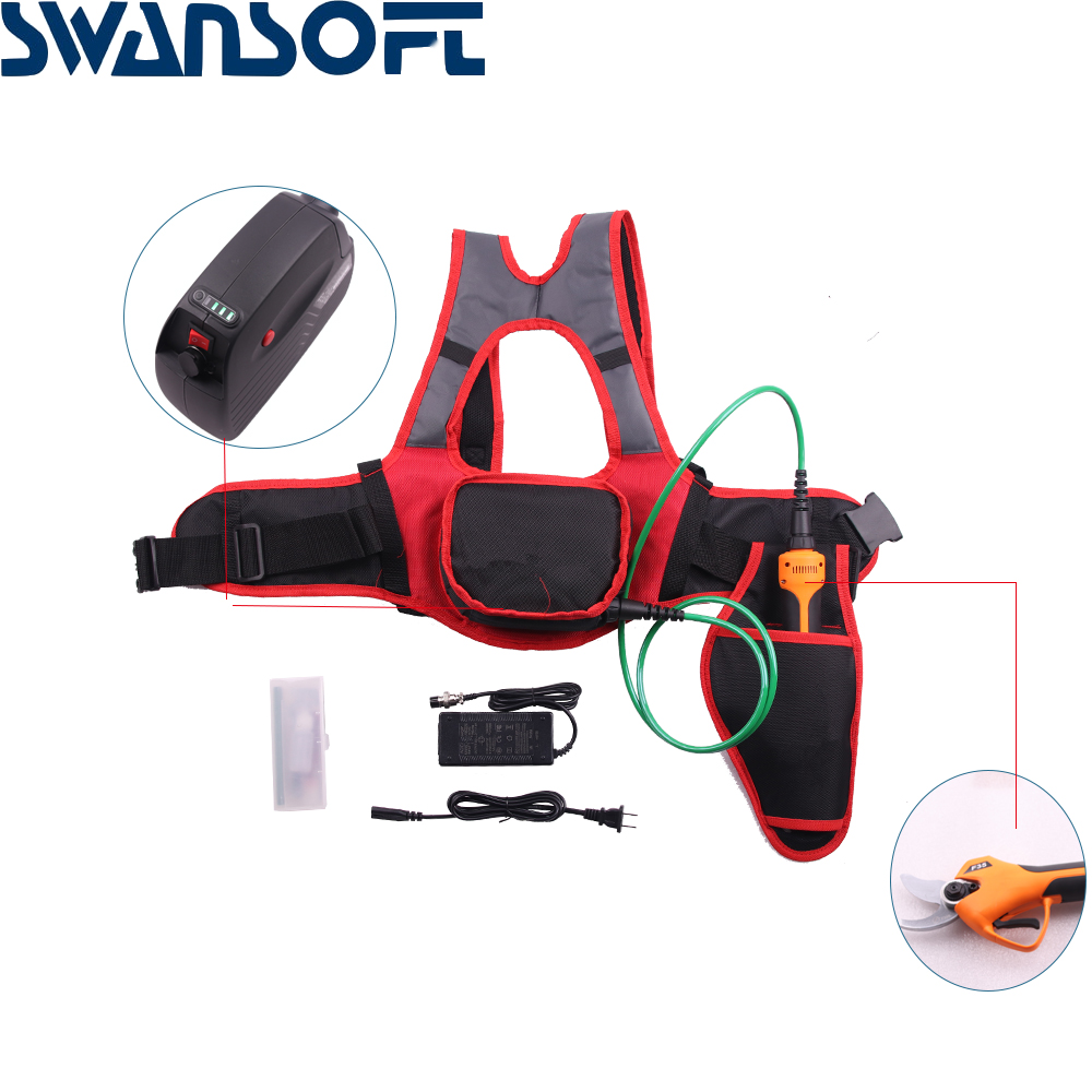Tools : SWANSOFT F35 800g on hand 35mm cutting electric pruning shears electric pruner garden and vineyard electric secateurs