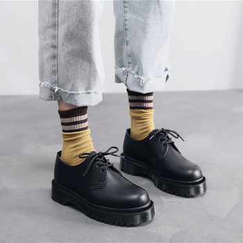 Women Boots Doc High Platform Spring Autumn Oxfords High Quality Ladies Leather Shoes Martins Comfortable Casual Women Boots New