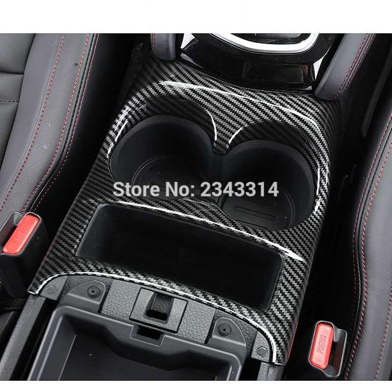 Voor Nissan Qashqai J11 2019 2020 Auto Water Bekerhouder Cover Trim Versnellingspook Panel Auto Styling Stickers Abs Carbon fiber Stijl