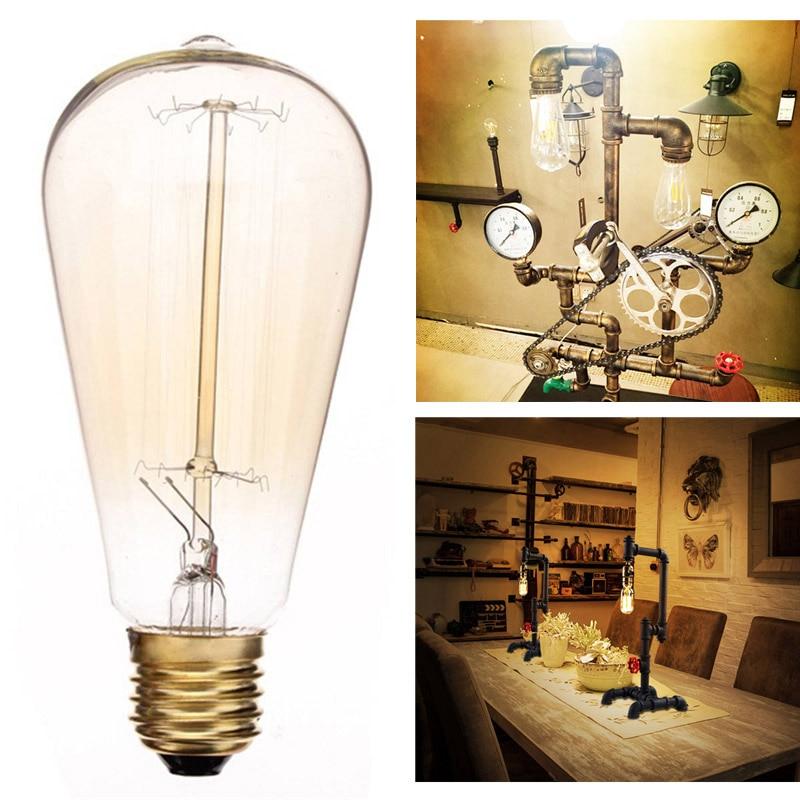 E27 60W ST64 Screw Vintage Retro Light Bulb Incandescent Vintage Style Lamp Bulb Squirrel Cage 110V/220V LC