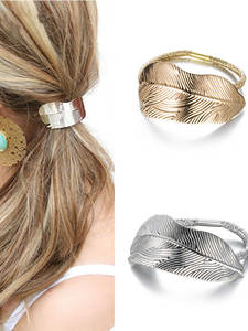 IPARAM Hairband-Rope Ponytail Hair-Accessories Leaf Elastic Woman Hot Fashion with Party