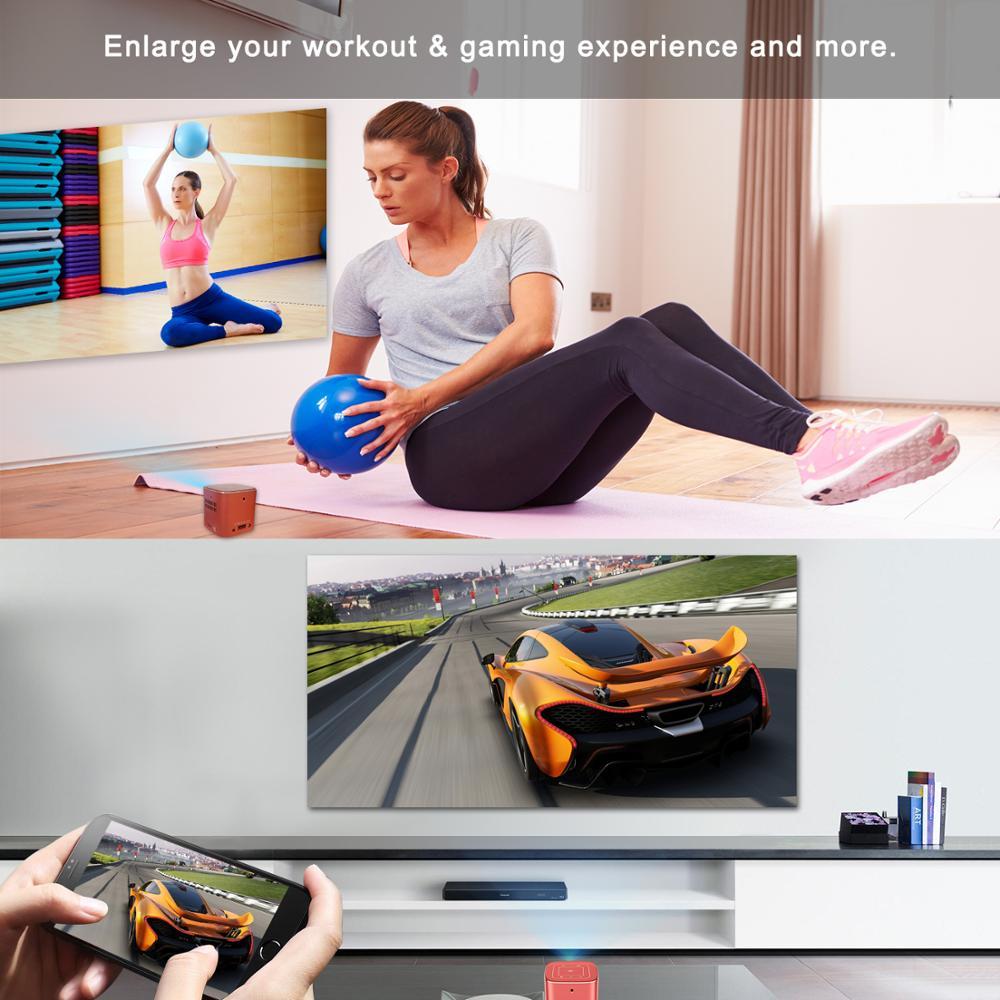 AODIN Fusion 50Ansi Lumens WIFI mini projecteur portable DLP LED projecteur de télévision, prise en charge 1080 P, flux 50000 + TV/films - 6
