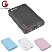 20000mAh 4X18650 power Bank чехол держатель 5V 1A 2A Dual USB мобильные зарядное устройство Зарядка DIY коробка оболочка для iPhone Android телефон