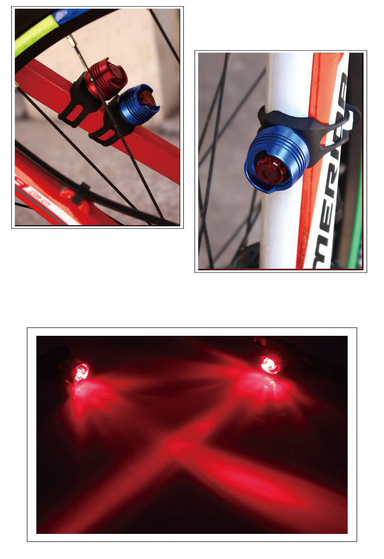 Bicycle Warning Light Bicycle  Front Rear Tail Red White LED Flash Lights Safety Warning Lamp Cycling Caution Light Waterproof