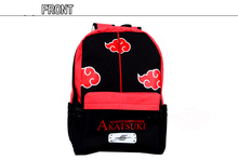Animation NARUTO Backpack Akatsuki Uchiha Itachi Sharingan Shoulder Backpack Red and Black cool robot anime fans gundam backpack zion hero char aznable s custom backpack red and black color for selection ab227