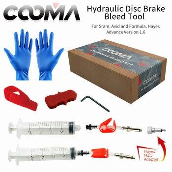 Набор гидравлических тормозов COOMA для SRAM и AVID, V1.6; и базовый набор инструментов V0.9 оптовая продажа ссылка