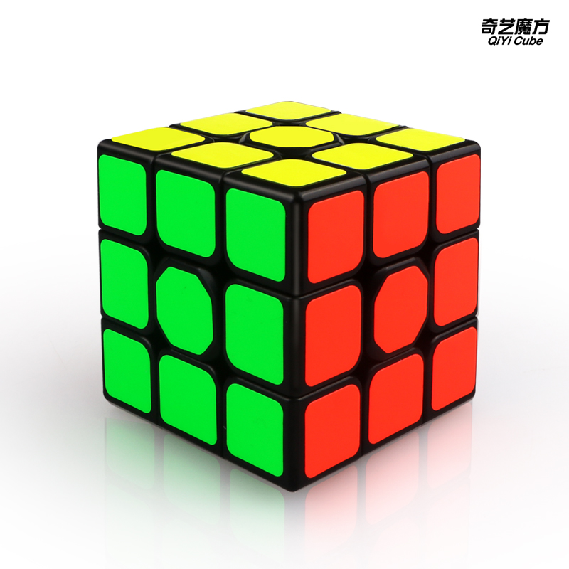 Newest English QiYi Sail W 3x3x3 Speed Magic Cube Black Professional 3x3 Cube Puzzle Educational Toys For Children Gift 3x3