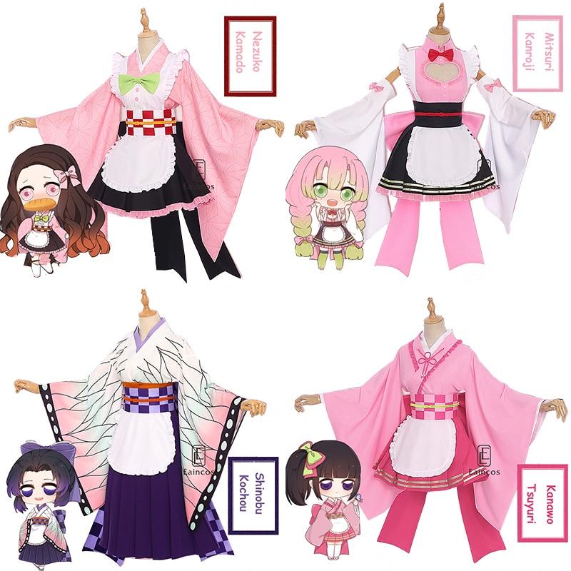 Anime Demon Slayer Kamado Nezuko Kanroji Mitsuri Kochou Shinobu Tsuyuri Kanawo Cosplay Maid Kimono Uniforms Wig Costume Mega Sale 91643e Cicig Nezuko kamado & mitsuri kanroji (hype) iphone 12 11 pro max x xr xs 7 8 samsung galaxy s10 case. anime demon slayer kamado nezuko