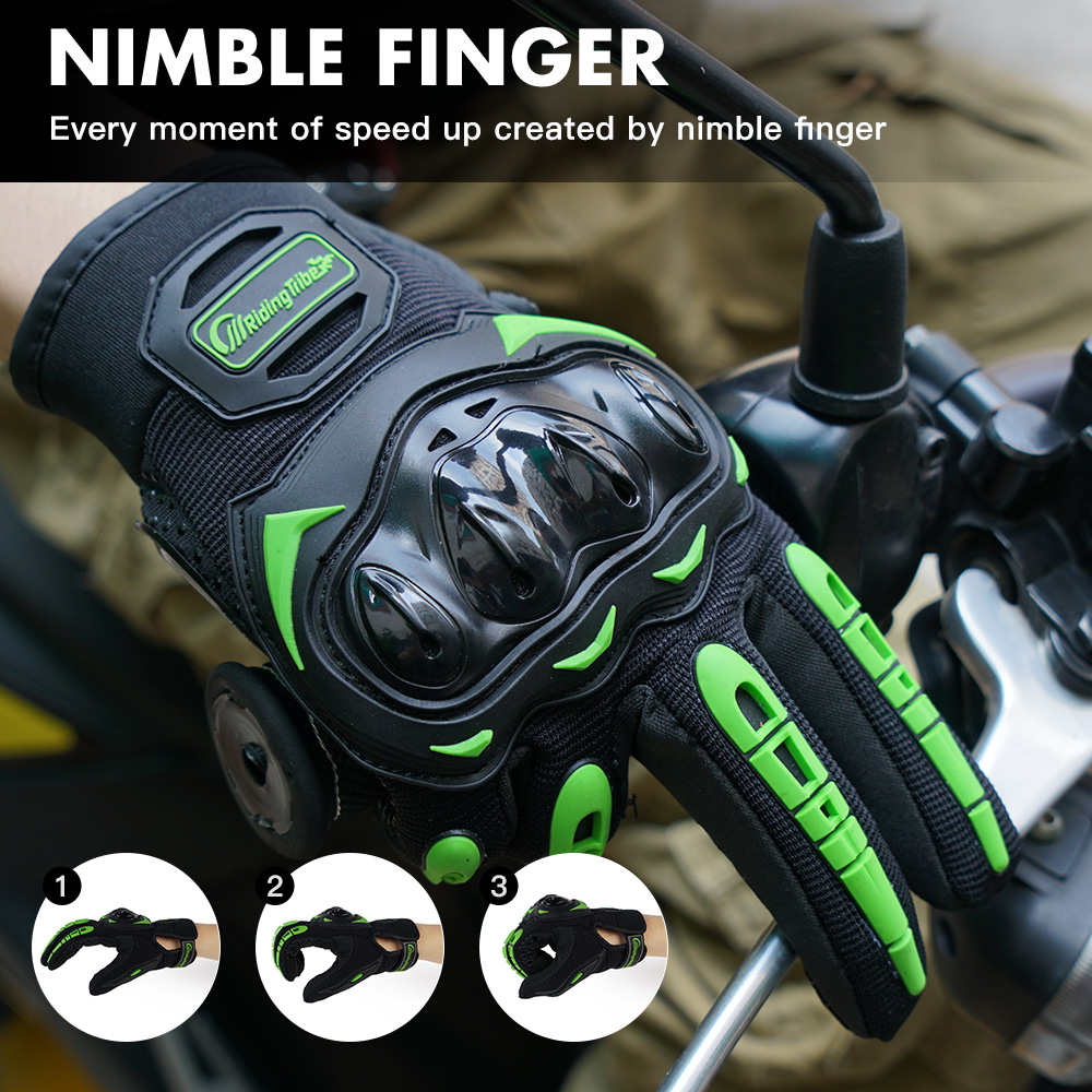 Écran tactile moto gant dur Knuckle équipement de protection étanche doigt complet Guantes Luvas moto course équitation