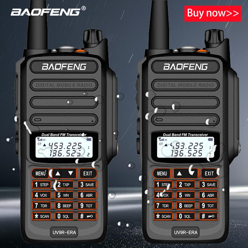 2pcs Baofeng IP68 Waterproof Walkie Talkie Long Range 25km Uv-9r Plus ERA Plus Cb Ham Radio Hf Transceiver UHF VHF Radio Station